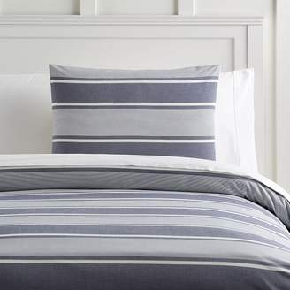 Pottery Barn Teen Jackson Stripe Organic Duvet Cover, Twin/Twin XL, Faded Navy