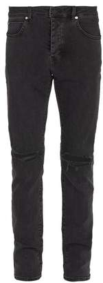 Neuw - Iggy Ripped Knee Slim Leg Jeans - Mens - Black