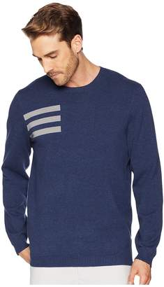 adidas 3-Stripes Crew Neck Sweater Men's Long Sleeve Pullover