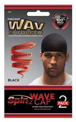 Firstline WavEnforcer Wave Cap - Black - 2pk