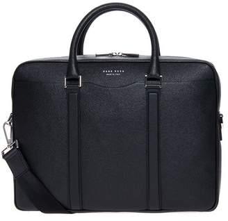 HUGO BOSS Signatur Leather Shoulder Bag