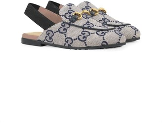 Gucci Kids Princetown GG canvas slippers