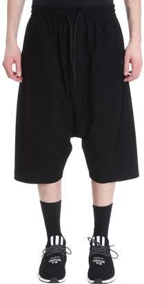Y-3 Y 3 Black Cotton Shorts