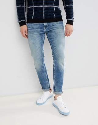Selected Slim Fit Mid Blue Wash Jeans