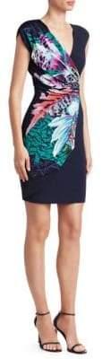 Roberto Cavalli Ruched Floral Mini Dress