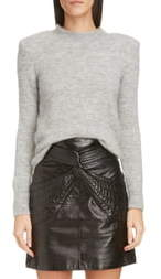 Isabel Marant Shoulder Pad Mohair & Wool Blend Sweater