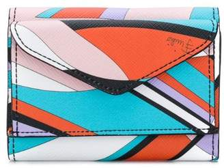 Emilio Pucci Shell Print Mini Trifold Wallet