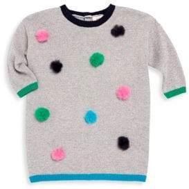 Catimini Little Girl's Pom Pom Knit Sweater