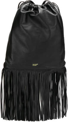 RED Valentino drawstring fringe backpack