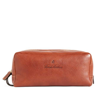 Brooks Brothers Leather Travel Toiletry Case