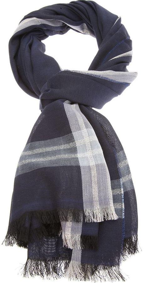Giorgio Armani check scarf