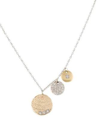 Meira T 14K Diamond Disc Pendant Necklace