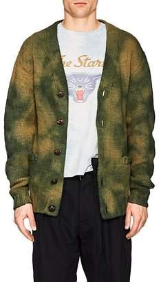 Visvim Men's Wool Oversized V-Neck Cardigan - Green