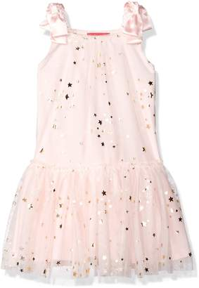 Kate Mack Little Girls' Fairy Dance Netting Dress Withgold Foil Stars