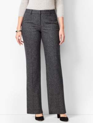 Talbots Wide-Leg Windsor Donegal Pants - Curvy Fit