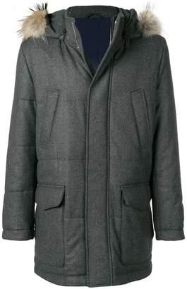 Eleventy fur hood parka coat