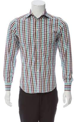 Etro Checkered Dress Shirt