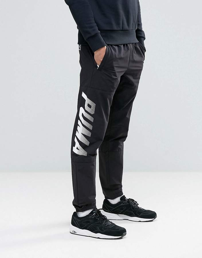 Puma Speed Font Woven Joggers In Black 57161001