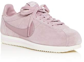 Nike Women's Classic Cortez Suede Lace Up Sneakers