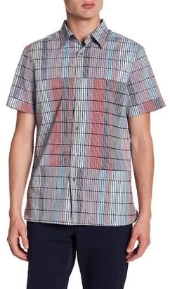 Perry Ellis Fences Short Sleeve Regular Fit Shirt