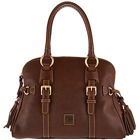 As Is Dooney & Bourke Florentine Leather Domed Buckle Satchel $230 thestylecure.com