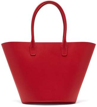 Mansur Gavriel Triangle Leather Tote - Womens - Red