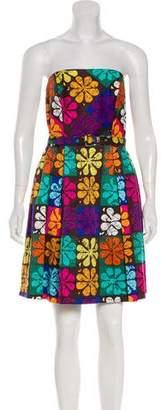 Trina Turk A-Line Floral Printed Dress