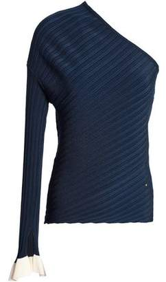Esteban Cortazar Ribbed Stretch-knit Top