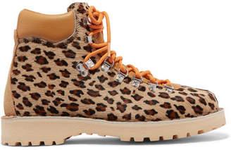 Diemme Roccia Vet Leopard-print Calf Hair Ankle Boots - Leopard print