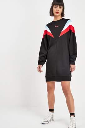 Levi's Womens Black Colourblock Sweater Dress - Black