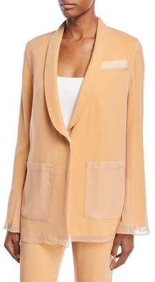 A.L.C. Vreeland One-Button Silk Layered Blazer
