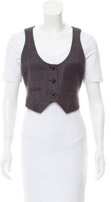 Diane von Furstenberg Wool-Blend Printed Vest