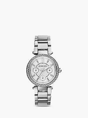 Michael Kors MK5615 Mini Chronograph Bracelet Strap Watch, Silver