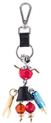 Prada Saffiano Robot Keychain