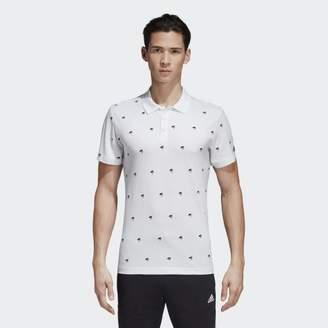 adidas (アディダス) - グラフィック ポロシャツ ESSENTIALS