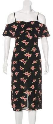 Flynn Skye Floral Print Off-The-Shoulder Dress