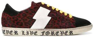 Amiri live forever leopard viper sneakers