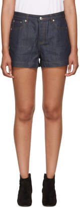 A.P.C. Blue High Standard Denim Shorts