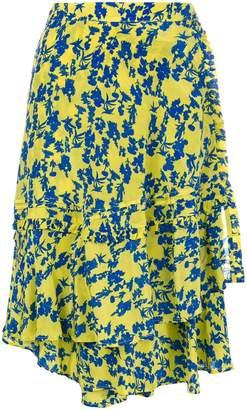 Preen Line asymmetric floral skirt