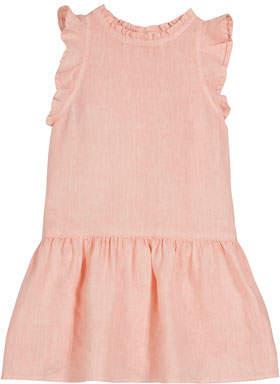 Bella Dahl Ruffle Linen Dress, Size 8-14