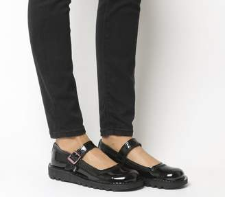 Kickers Kick Bar Shoes Black Leather