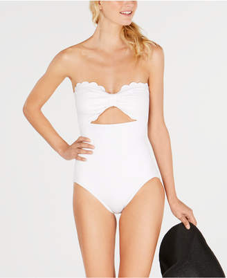 Kate Spade Scalloped Strapless One-Piece Swimsuit Women Swimsuit