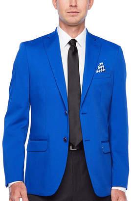 Izod Bright Blue Mens Classic Fit Sport Coat