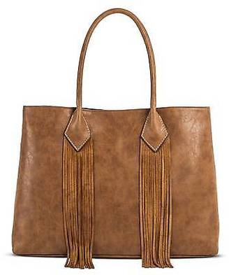Merona; Women's Faux Leather Solid Suede Fringe Tote Handbag - Merona; $44.99 thestylecure.com