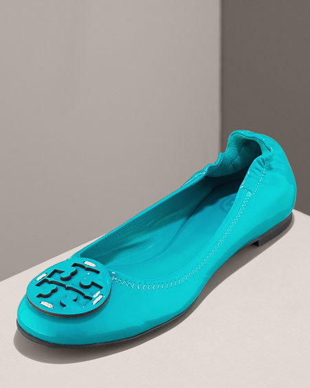 Tory Burch Reva Patent Ballet Flat, Papeete & Purple