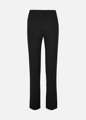 Valentino Stretch-crepe Slim-leg Pants - Black