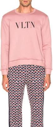 Valentino Logo Sweatshirt in Pink | FWRD