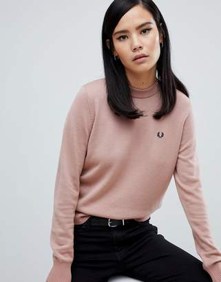 Fred Perry Pink Knit Sweater