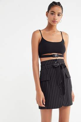 Urban Outfitters Menswear Pinstripe Button-Front Skirt