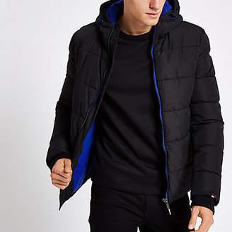 Superdry Black funnel neck puffer jacket